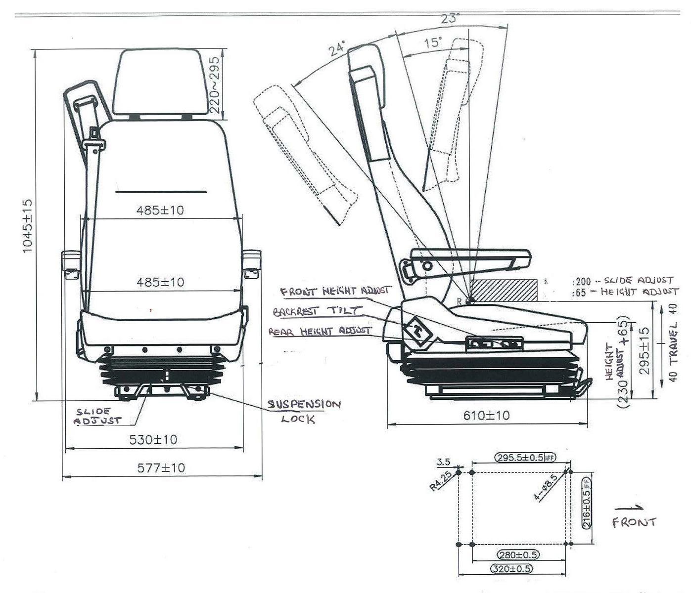 TSR5L Specifications drawing